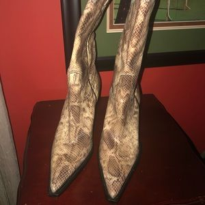 "Charlie Horse Shoes - 🐍 Snake Skin 🐍 Boots ""Mint Condition"""